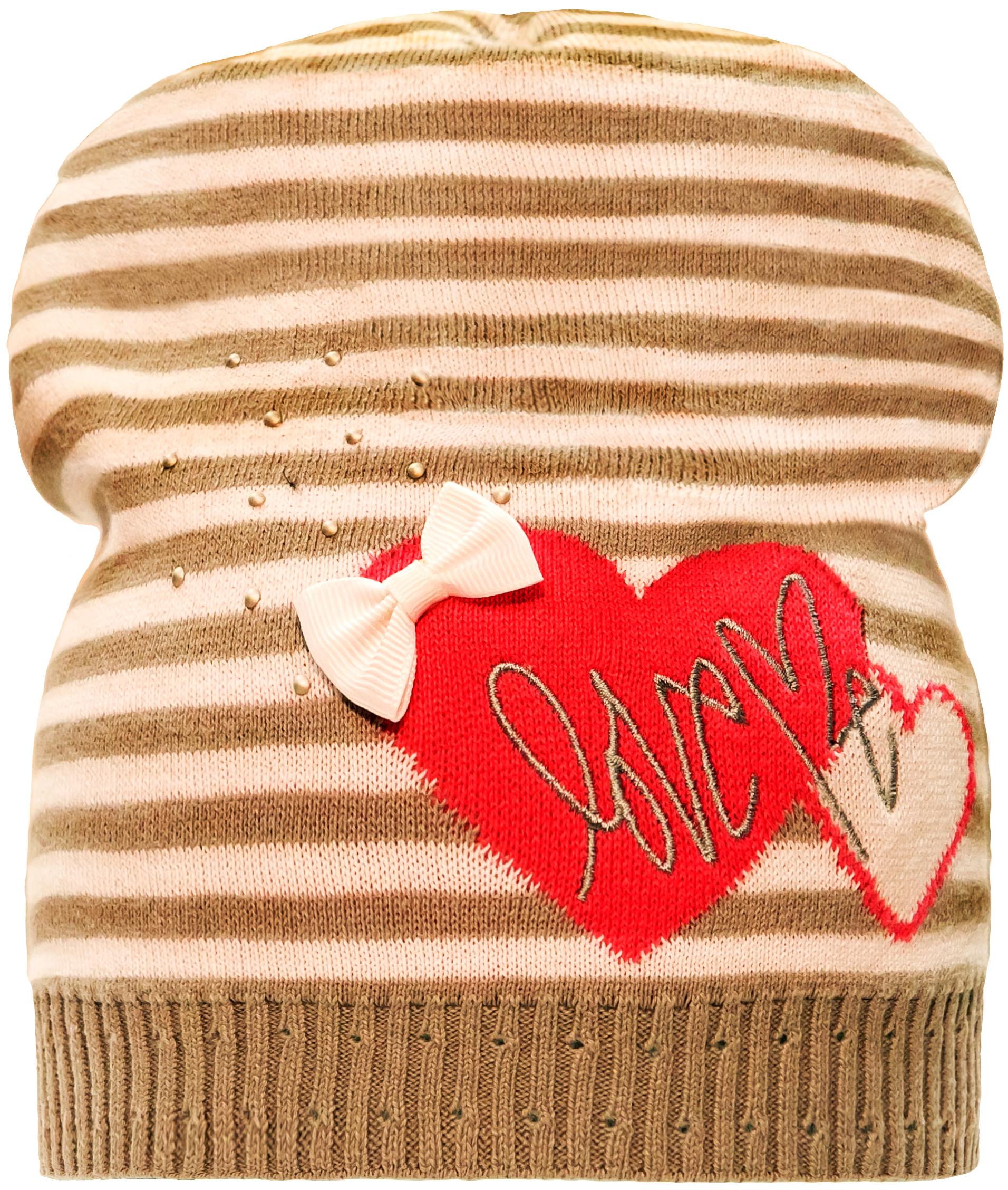 Купить Головные уборы, Шапка для девочки Barkito, светло-серая с рисунком в полоску, Россия, светло-серый с рисунком в полоску, Женский