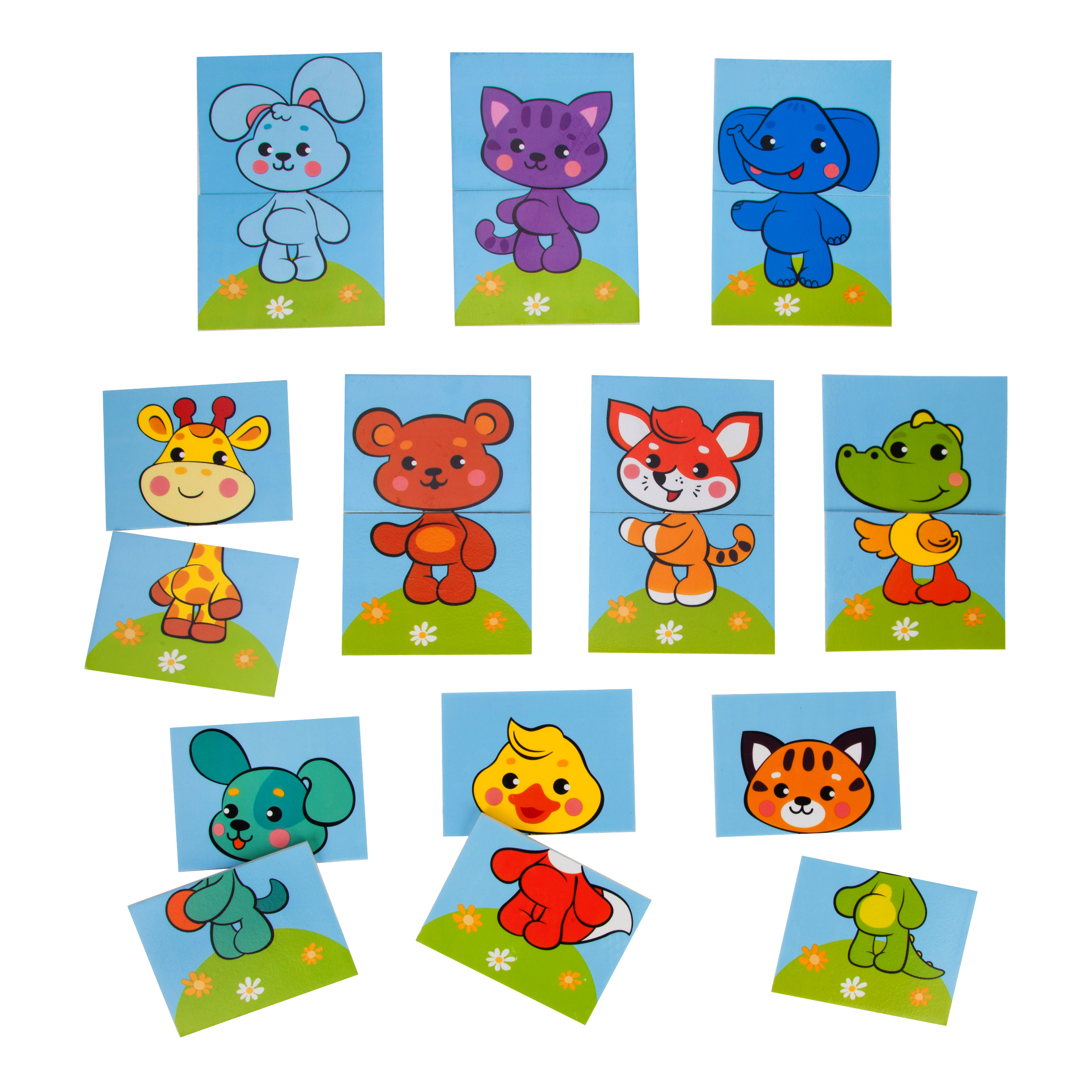 Купить Игрушки для ванны, Набор игровых стикеров для купания Жирафики «Собери картинку. Животные», Китай, EVA
