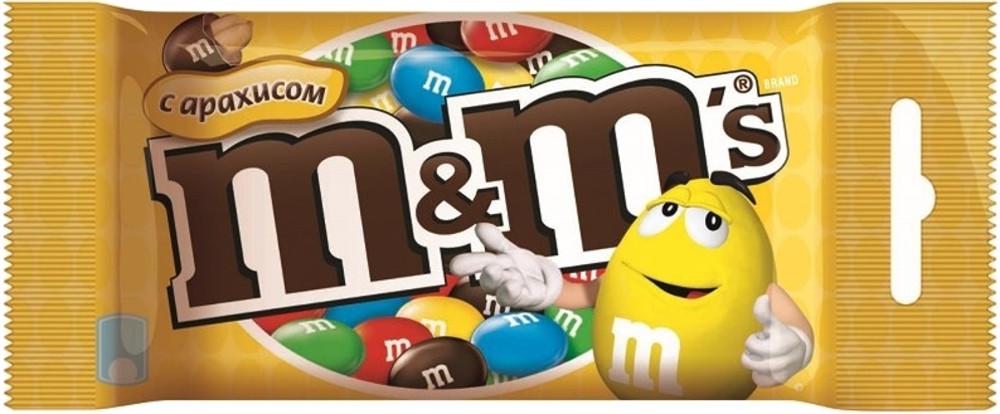 Драже M&M's M&M's с арахисом 45 г драже m
