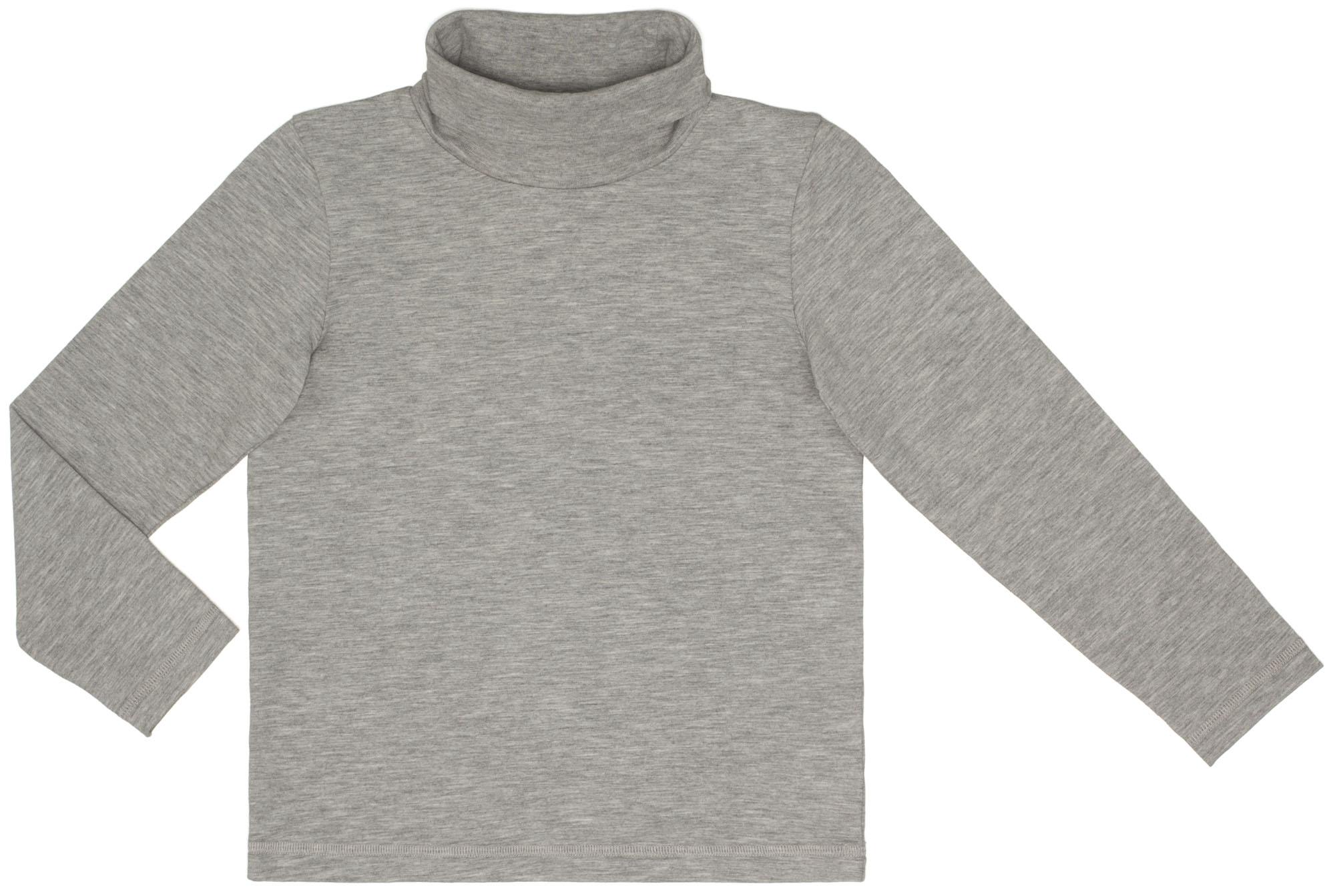 Купить Водолазки, Водолазка для мальчика Спорт Barkito серый меланж, Узбекистан, Мужской