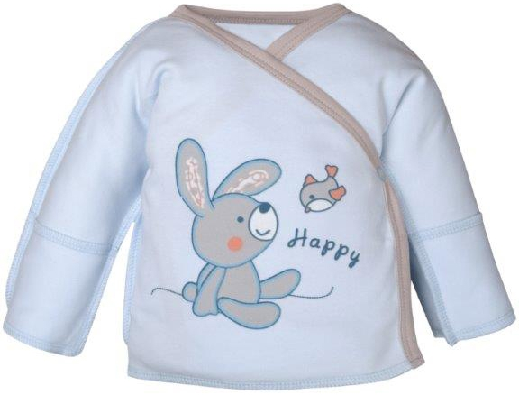Первые вещи новорожденного Barkito Распашонка для мальчика Зайчонок Barkito голубой распашонка трон плюс цвет голубой 5003 размер 62 3 месяца