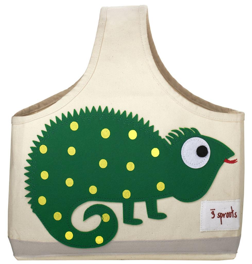 Ящики и корзины для игрушек 3 Sprouts Сумочка для хранения 3 Sprouts «Green Iguana» 3 sprouts сумочка для хранения детских принадлежностей бобр orange beaver 3 sprouts