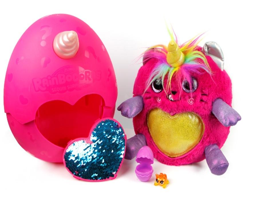 Купить Интерактивные животные, Мягкая игрушка Zuru «RainBocoRns.Сюрприз в яйце» в асс., Китай, Мягконабивная игрушка верх: текстильные материалы, элементы из пластмассы; наполнитель: синтетическое волокно; аксессуары: пластмасса, текстильные материалы.