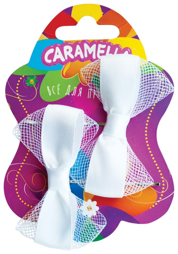 Украшения CARAMELLA Заколка для волос Caramella «Бантик» белые 2 шт. заколка море 2 шт для девочки al535 10 синий бэби ко