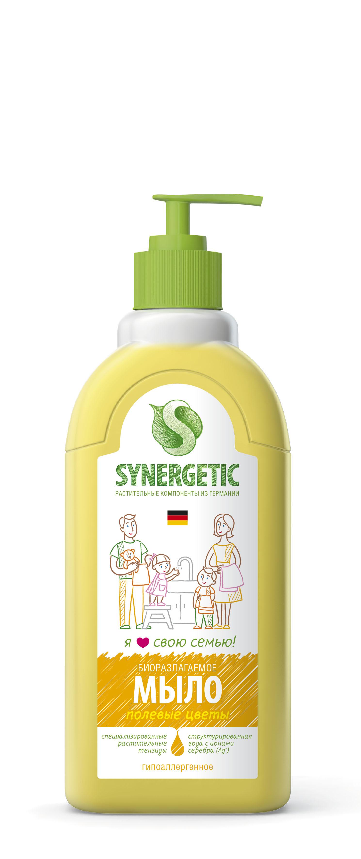 Купить Детское мыло, Полевые цветы 0, 5 л, Synergetic, Россия, желтый
