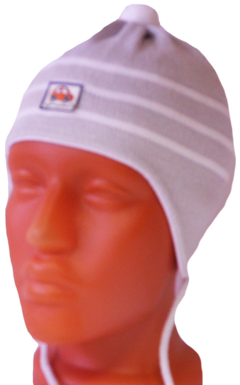 Головные уборы Индиго Шапка вязаная, с ушками, на завязочках Индиго Серая головные уборы индиго шапка индиго серая