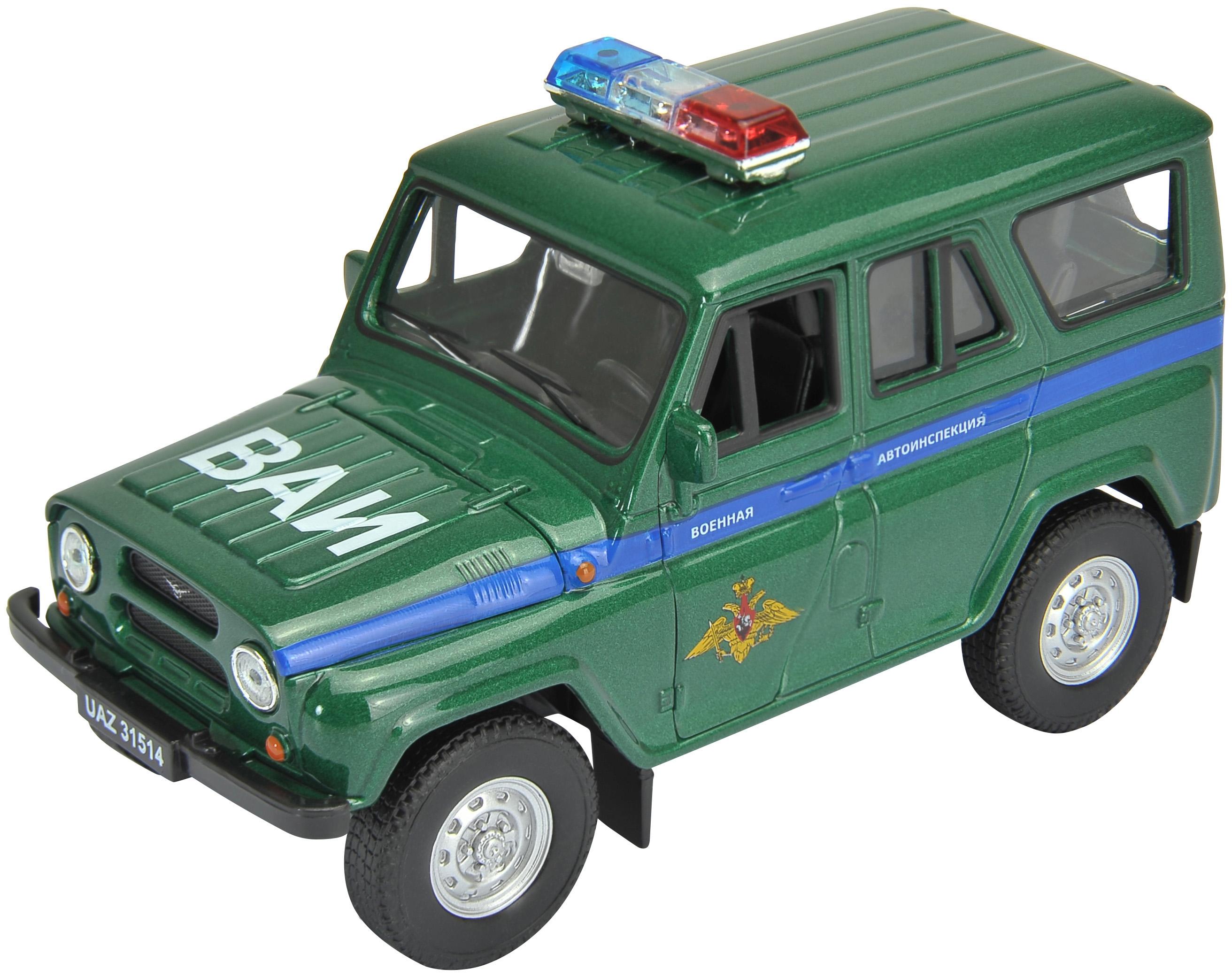 Машинки и мотоциклы Welly УАЗ 31514 Военная инспекция инерционная 1:34 автомобиль welly уаз 31514 военная автоинспекция 1 34 39 зеленый 4891761238070