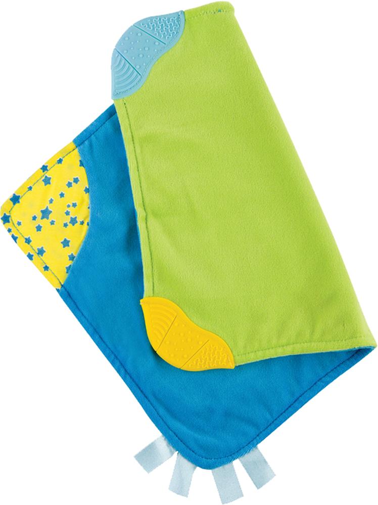 Купить Прорезыватель, Soft Pleasure, 1шт., Happy baby 330057, Китай, голубой, салатовый, желтый