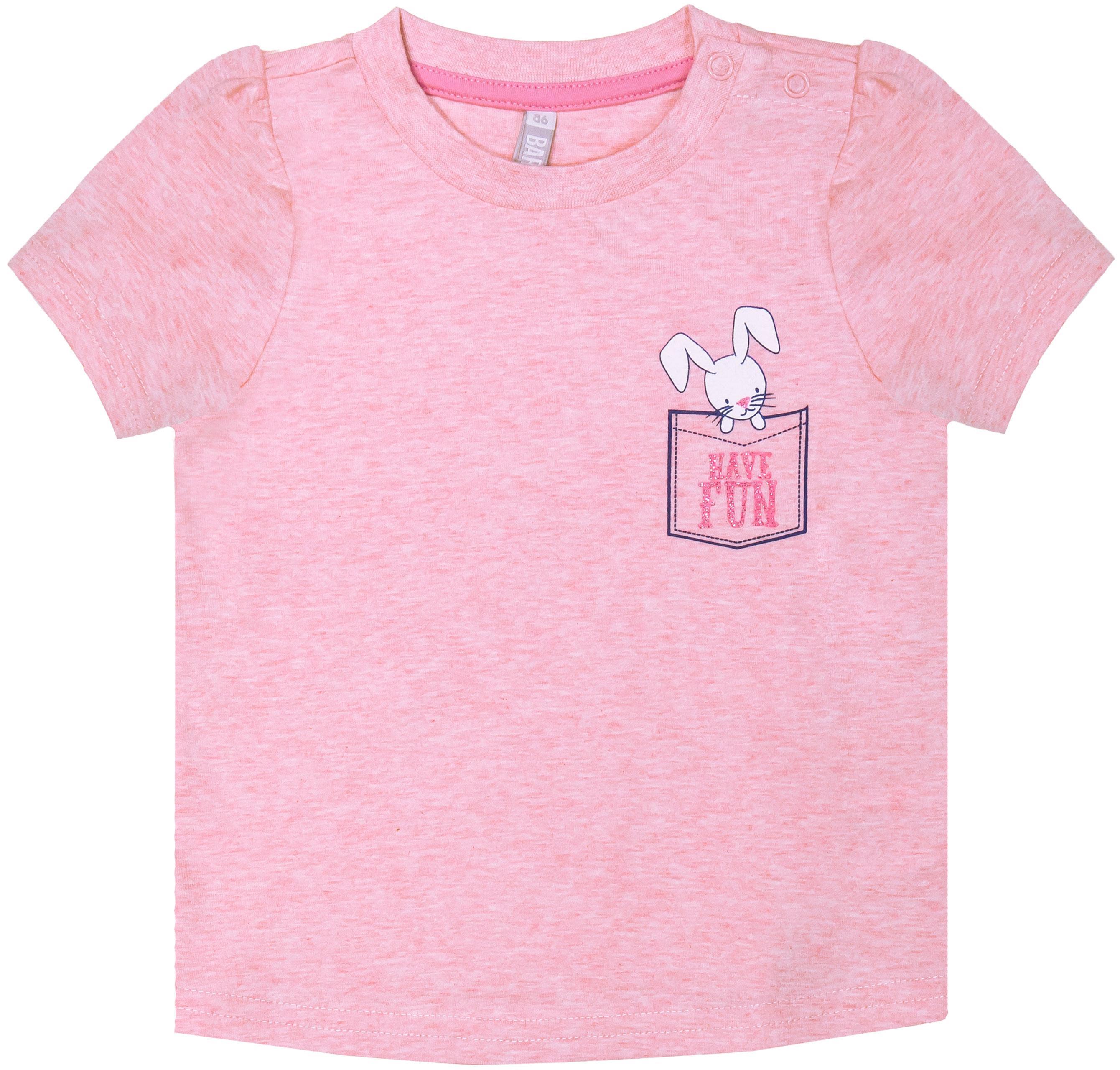 Купить Футболка с коротким рукавом для девочки, Нежность, 1шт., Barkito S18G1002J(2), Россия, pink, Женский