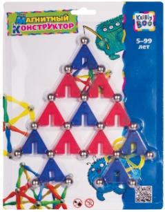 Наборы игрушечных инструментов Kribly Boo Конструктор Kribly Boo «Треугольники» магнитный 31 эл. конструктор kribly boo 58359