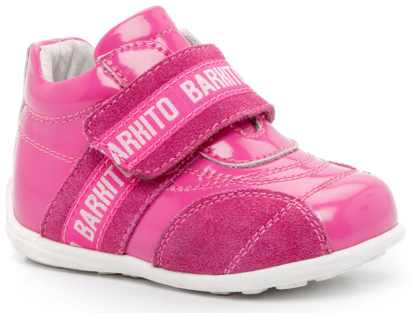 Купить Ботинки и полуботинки, Полуботинки для девочки Barkito, фуксия, Китай, Женский
