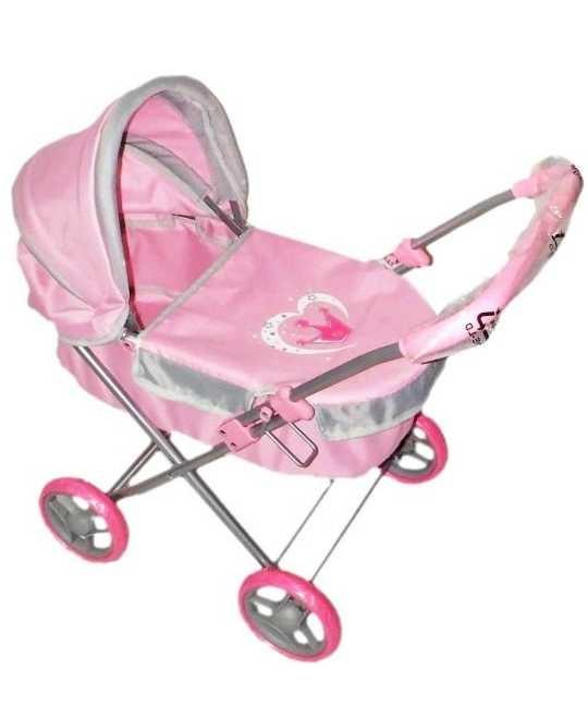 Коляска-люлька для куклы Наша игрушка Корона коляска для куклы lokotoys четырехколесная с поддоном красная