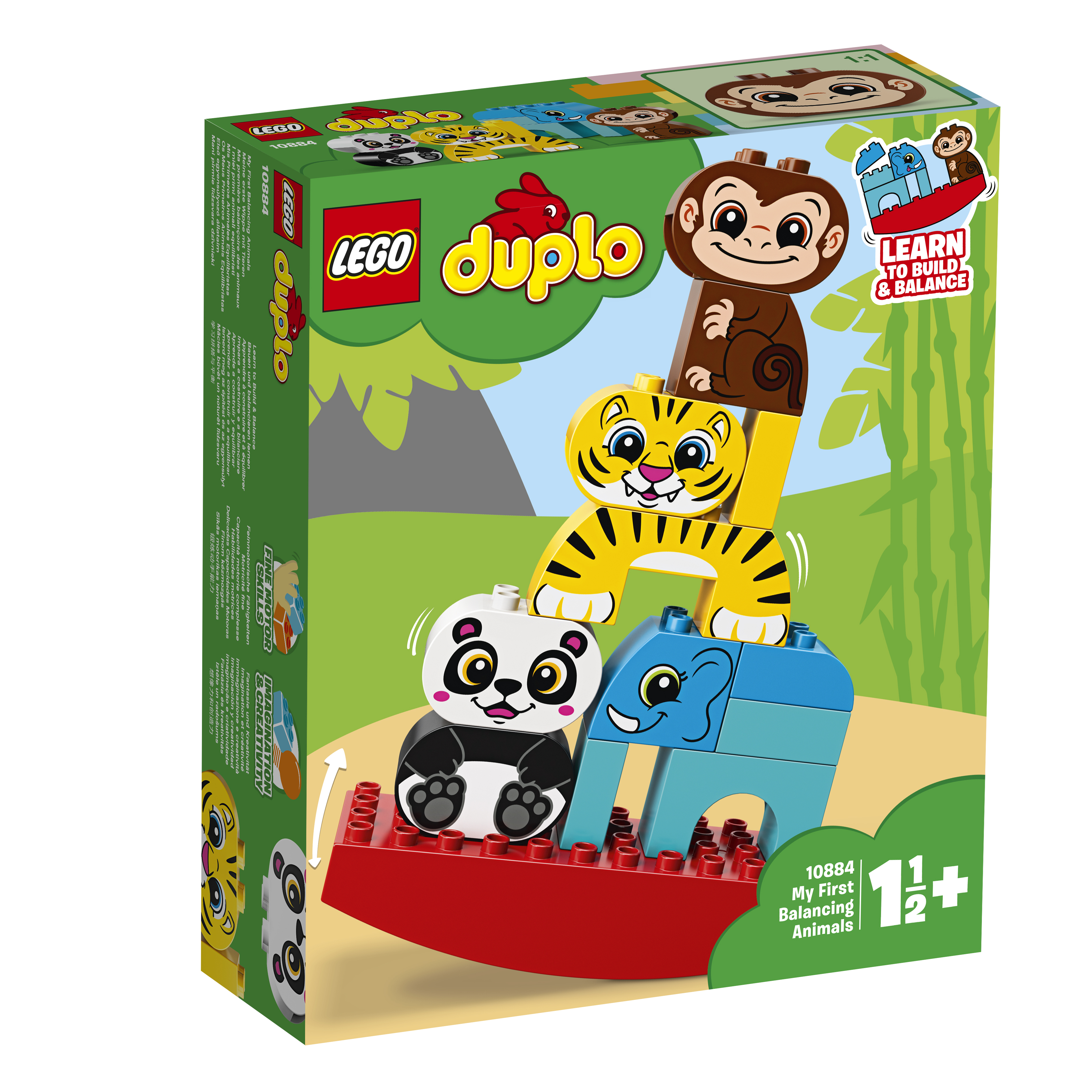 LEGO DUPLO LEGO Конструктор LEGO DUPLO My First 10884 Мои первые цирковые животные мои первые друзья животные