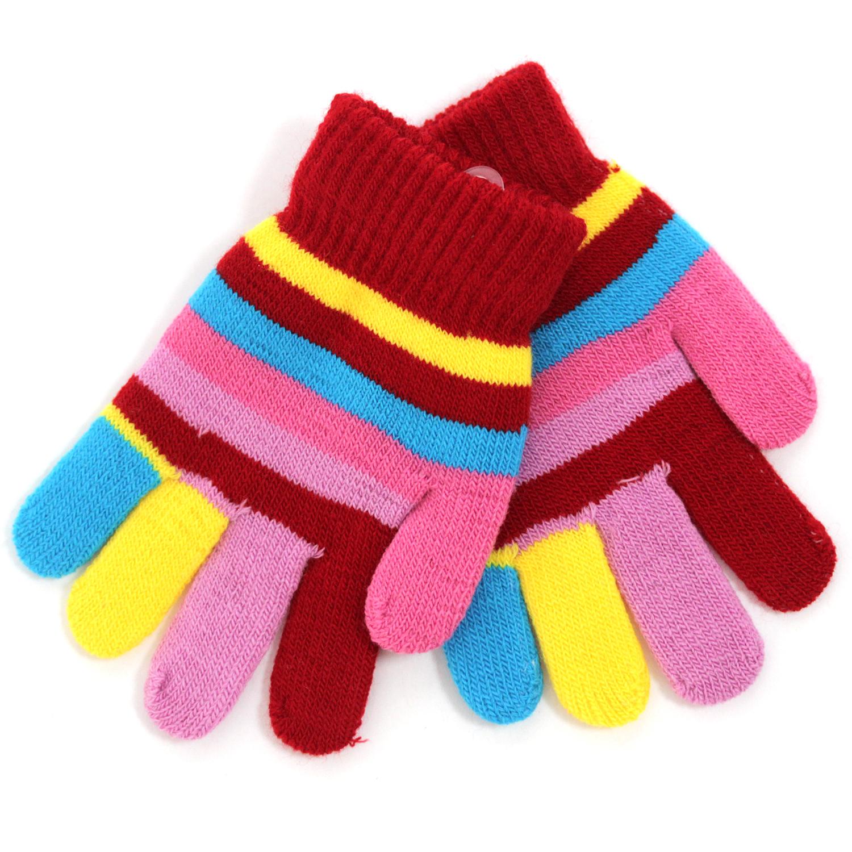Купить Варежки и перчатки, Перчатки для девочки Принчипесса разноцветные, Китай, голубой, желтый, сиреневый, красный, розовый, Женский
