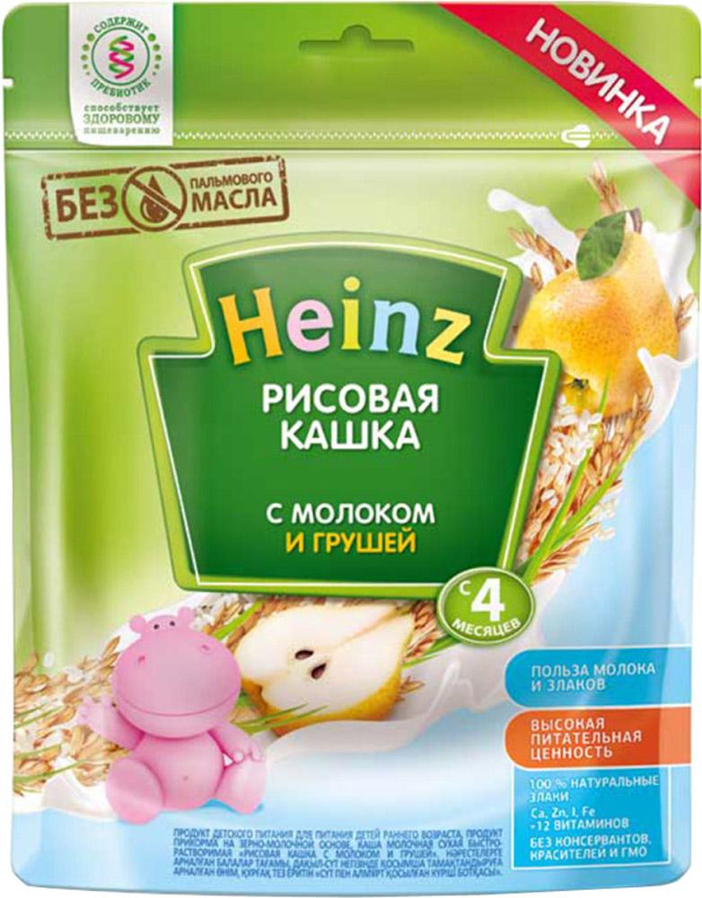 Молочные Heinz Каша молочная Heinz рисовая с грушей с 4 мес. 250 г каша молочная heinz 5 злаков банан яблоко с 6 мес 250 г
