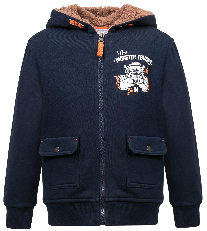 """Купить со скидкой Куртка для мальчика Barkito """"Монстр Трак"""", темно-синяя"""