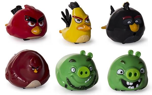 Фигурки героев мультфильмов Angry Birds Птичка на колесиках