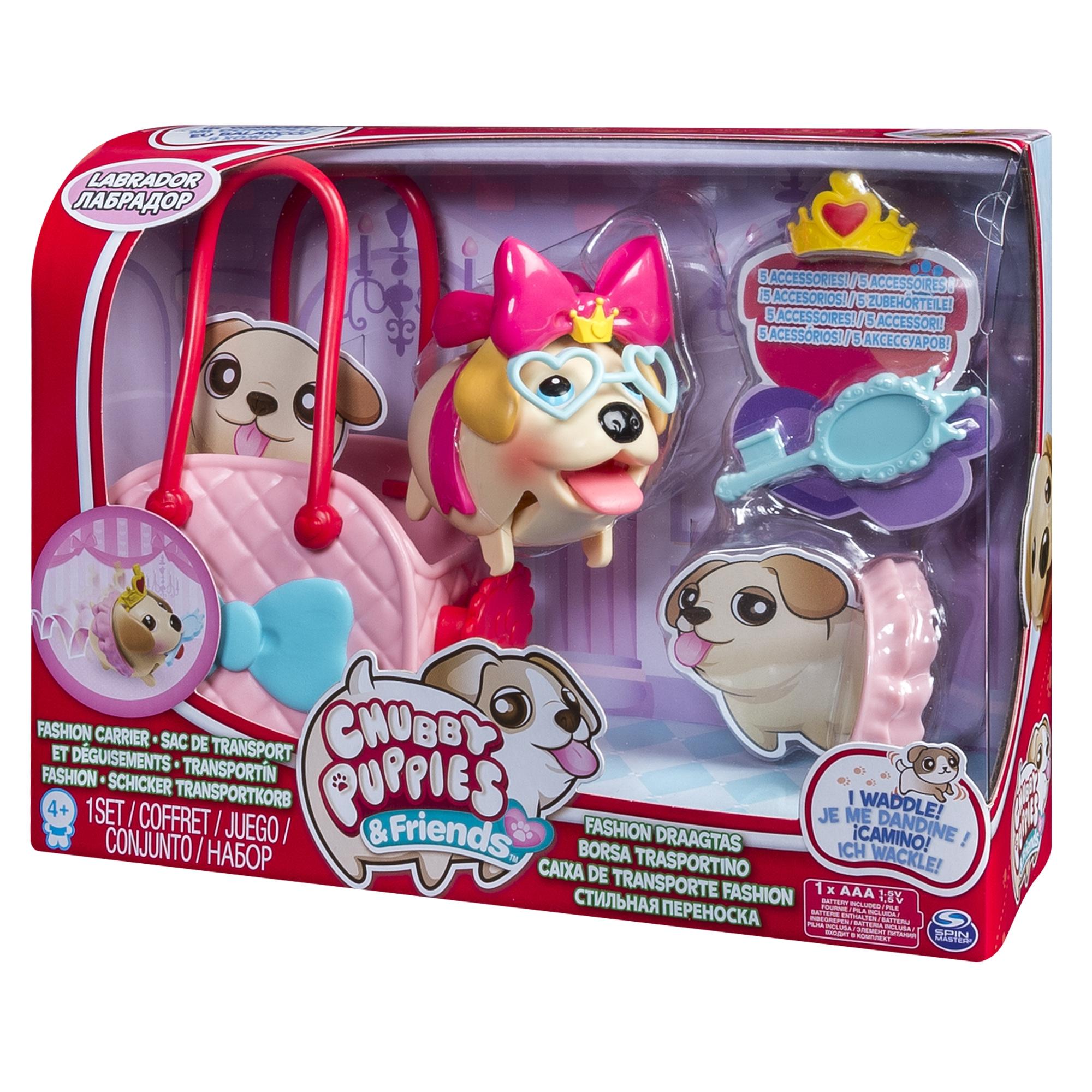 интерактивные игрушки Интерактивные животные Chubby Puppies Питомец с сумкой-переноской