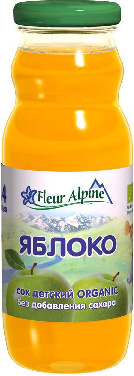 Соки и нектары Fleur Alpine Fleur Alpine Organic Яблоко осветленный с 4 мес. 200 м нектар любимый яблоко осветленный 200 мл по 27 шт