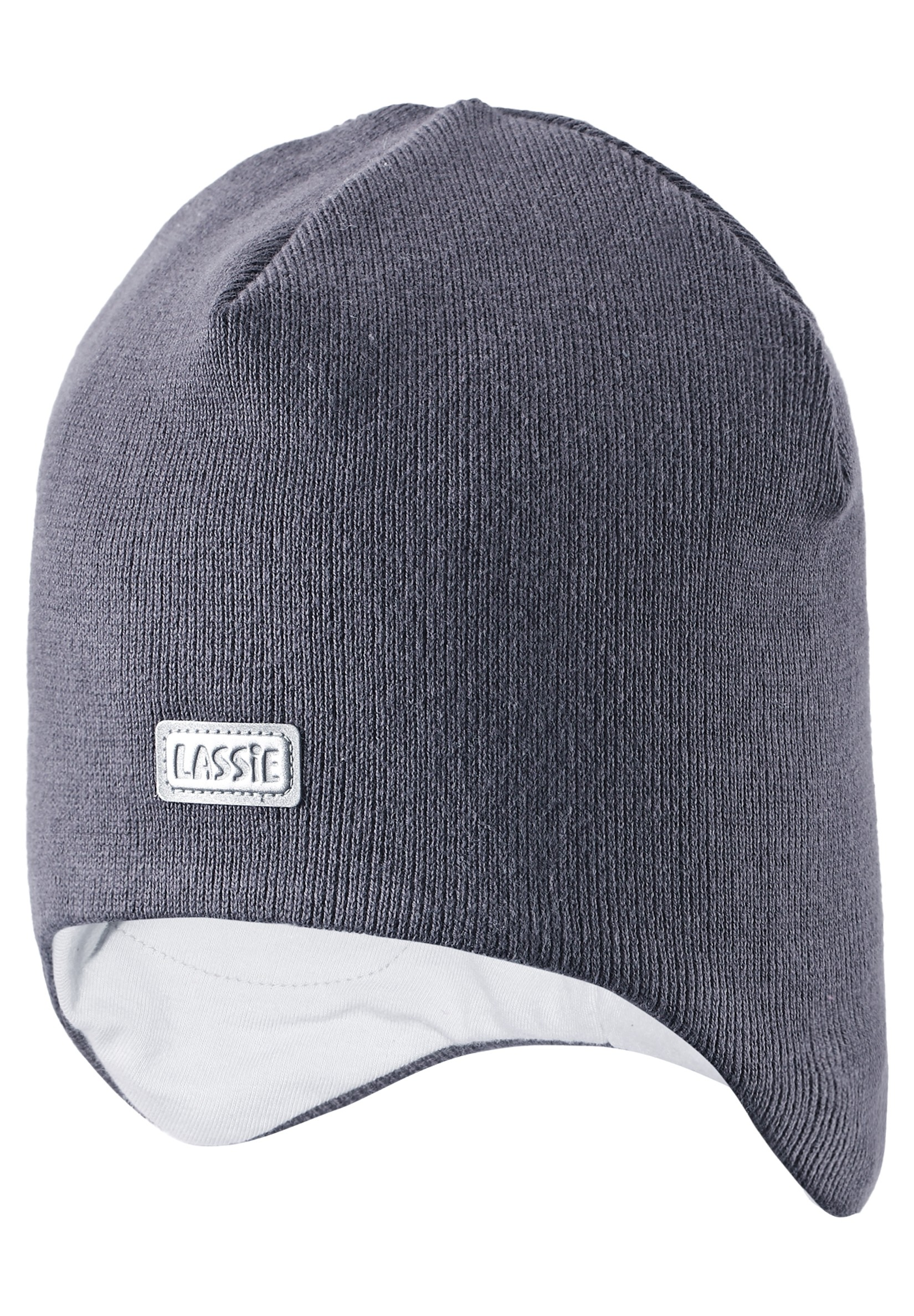 Головные уборы Lassie Шапка для мальчика Beanie dark grey, серая шапка marmot powderday beanie slate grey