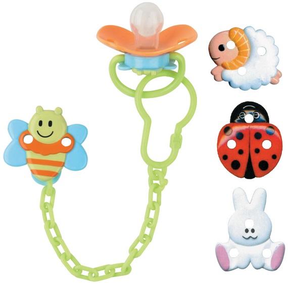 Пустышка силиконовая Курносики На цепочке с держателем подвеска в форме шарика со стразами на цепочке