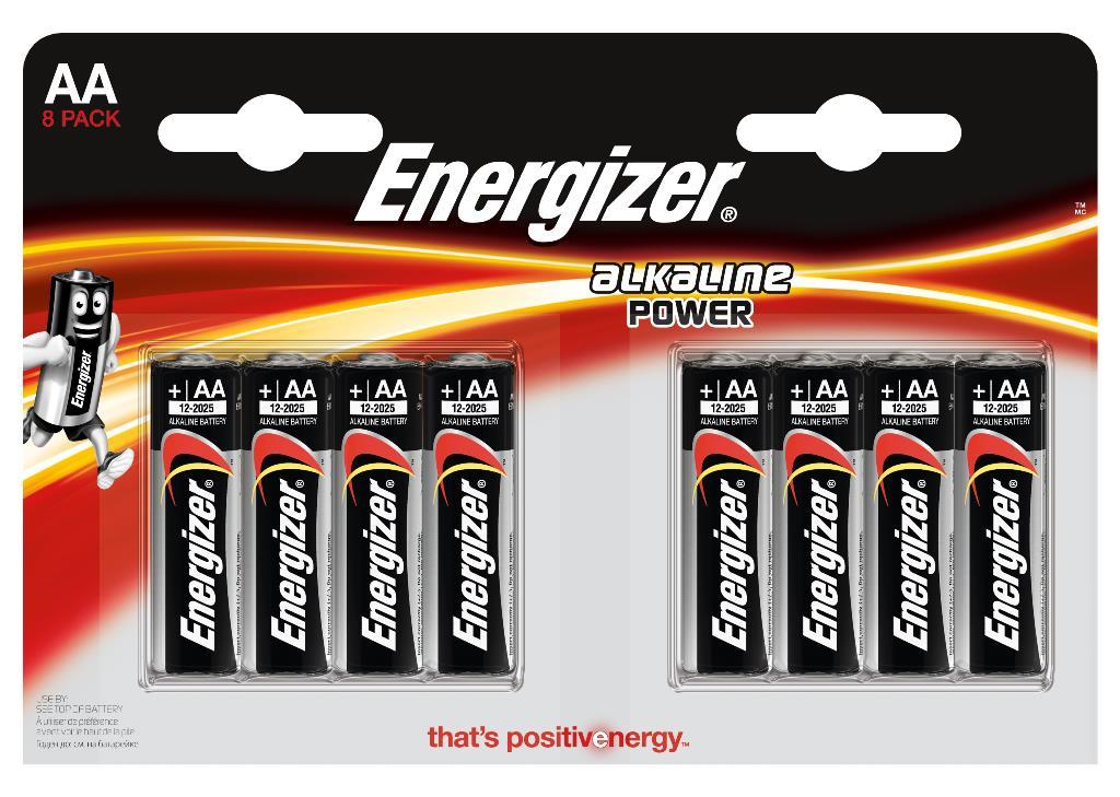 Элементы питания Energizer Батарейка Energizer AA 8 шт. батарейки energizer alkaline power аа 6 шт