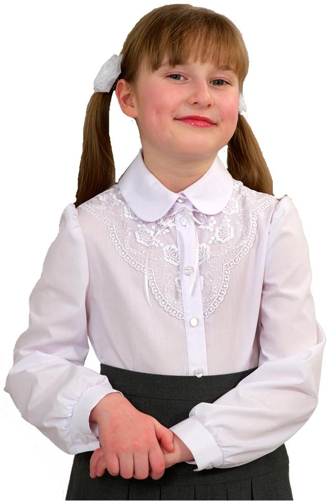 Форма для девочек Смена Блузка белая, Смена смена смена блузка белая