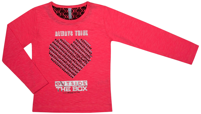 Футболки и топы Barkito Джемпер для девочки Barkito Спортсменка-2, красный футболки и топы barkito сладкоежка 2