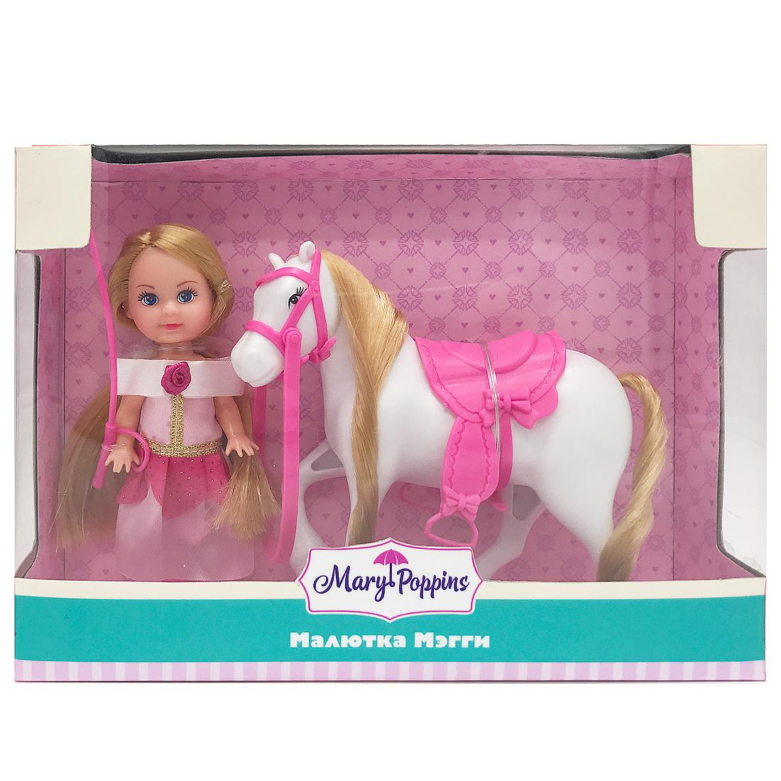 Другие куклы Mary Poppins Кукла Mary Poppins «Малютка Мэгги: Любимая лошадка» 9 см детские зонтики mary poppins автомобиль 46 см