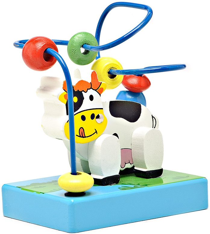 Деревянные игрушки Папа Карло Корова папа карло развивающая игрушка яблоня