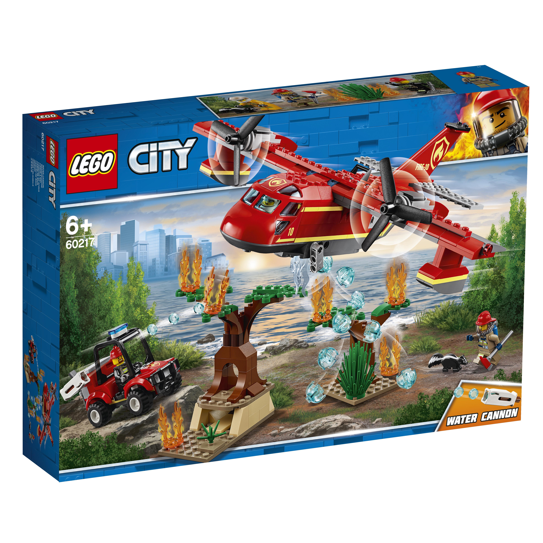 Конструктор LEGO City Fire 60217 Пожарный самолёт конструктор lego city патрульный самолёт 54 дет 60206