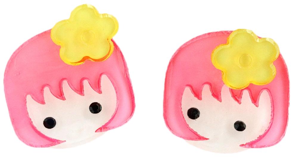 Украшения Принчипесса Краб для волос Принчипесса «Девочка» розовый 2 шт. невидимка для волос funny bunny розовые цветы 2 шт