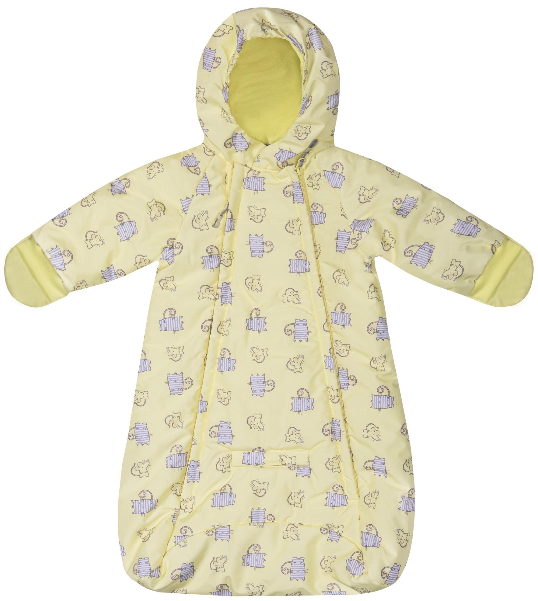 Конверты и спальные мешки Barkito Конверт Barkito, желтый с рисунком спальные мешки для малышей bebe lazzi конверт