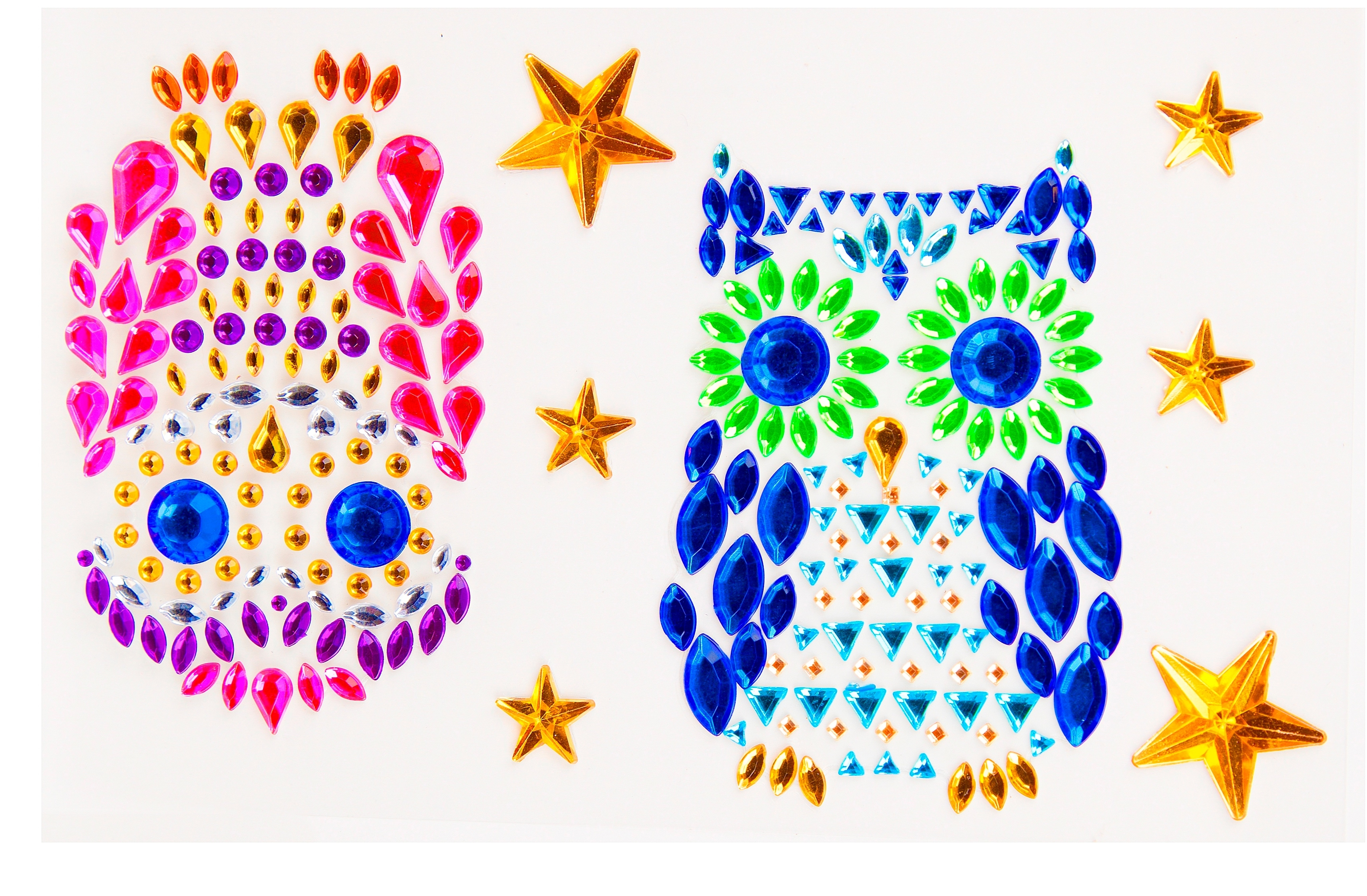Наклейки Color Puppy Наклейки из страз Color Puppy «Совы» puzzle 500 яркие совы alpz500 7701