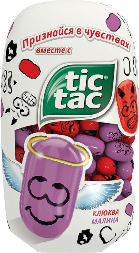 Десерты Tic Tac Tic Tac «Клюква и малина» 98 г конфитрейд disney драже с игрушкой проектор 8 г
