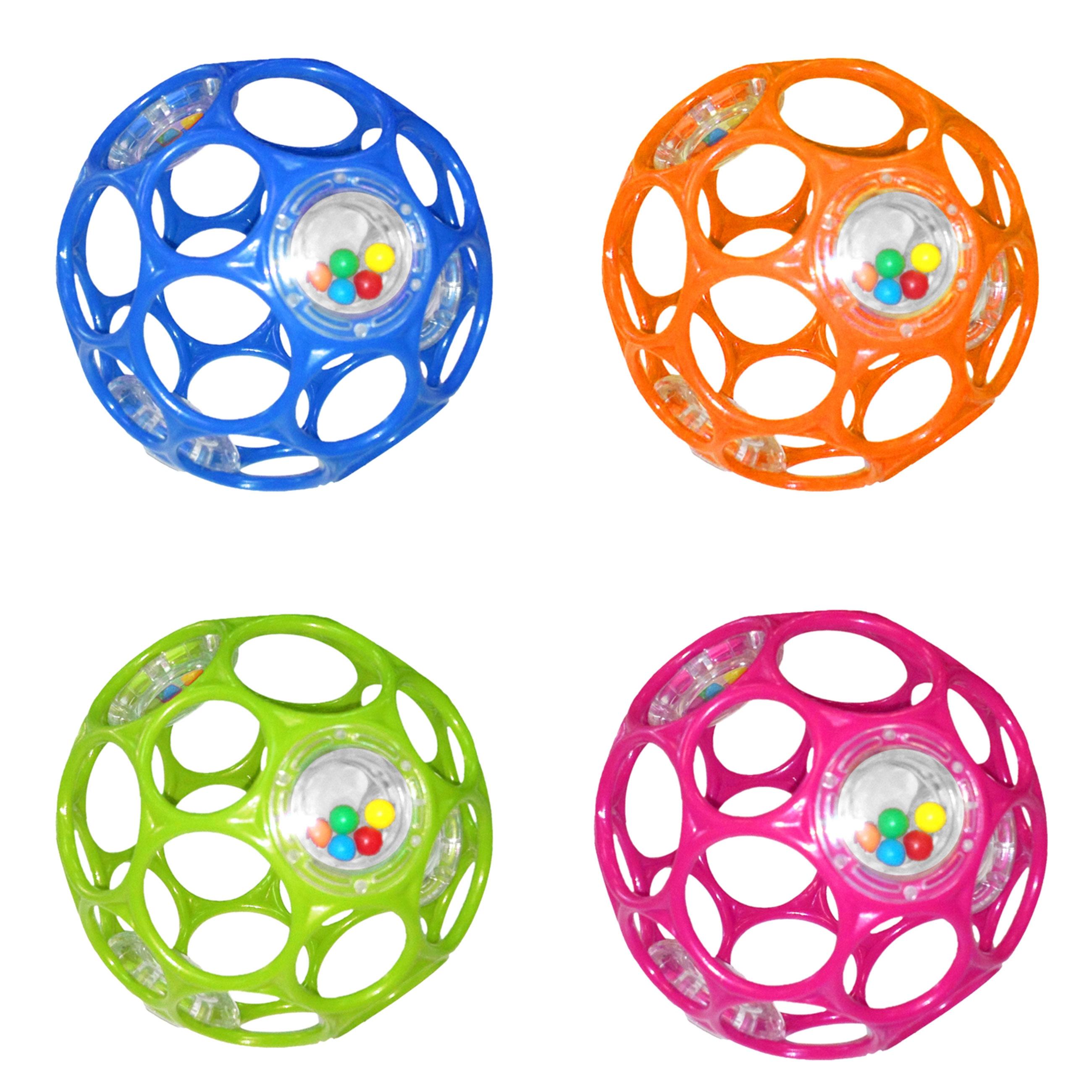 Погремушки Oball Развивающая игрушка Oball «Гремящий мячик» 11 см в асс. развивающие игрушки oball мячик на присоске