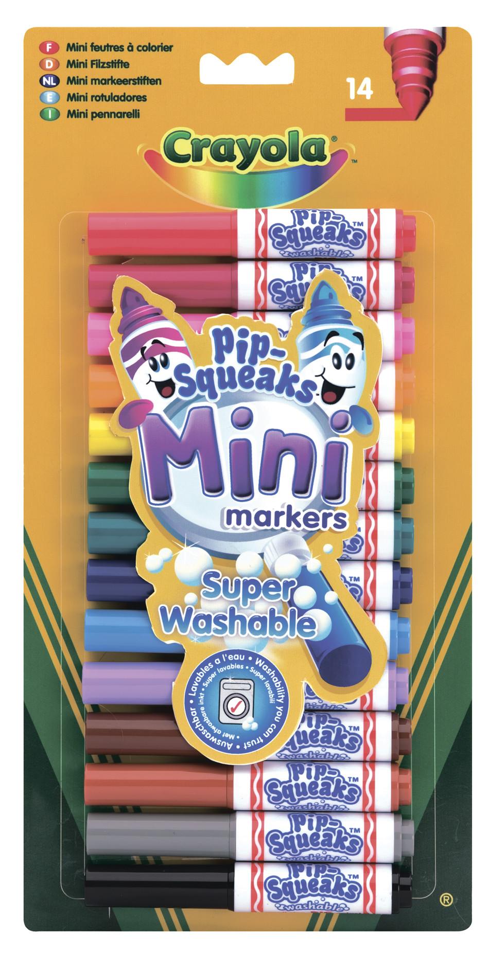 Канцелярия Crayola Смываемые мини-маркеров 14 шт. crayola набор из 14 смываемых мини маркеров crayola