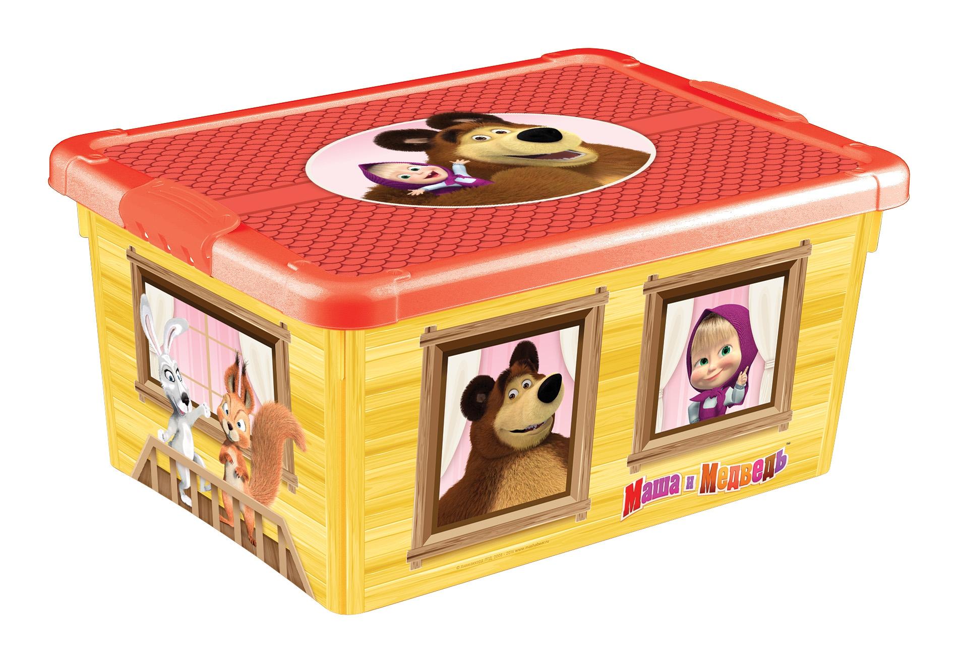 ящики для игрушек Ящик для игрушек Пластишка Маша и Медведь