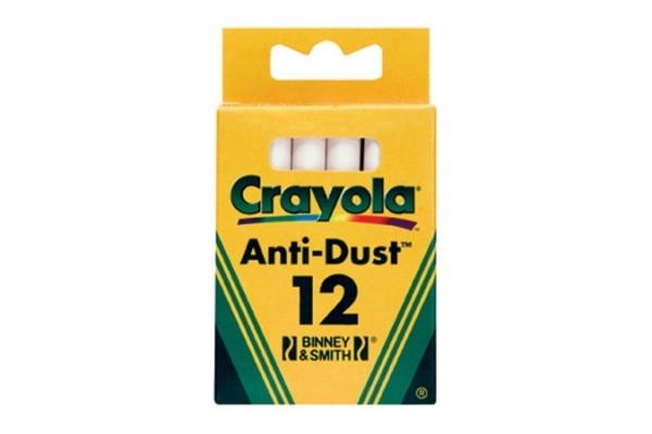 цена на Мелки Crayola 12 шт. неосып. белые