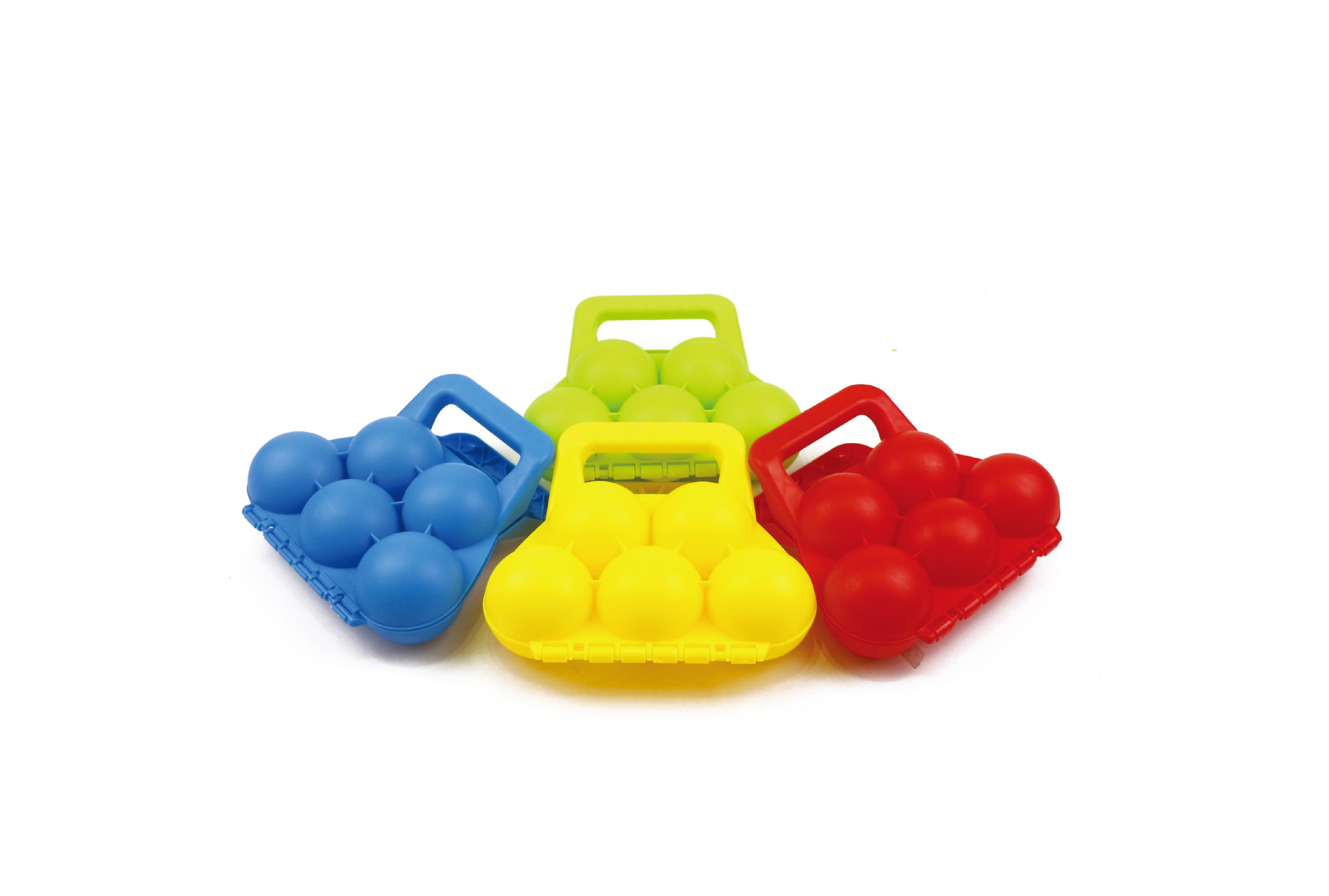 Игрушки для снега 1toy 5 ячеек игрушка для лепки снежков smile фиолетовый