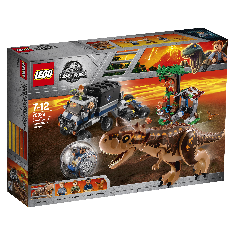 Конструктор LEGO Jurassic World 75929 Побег в гиросфере от карнотавра конструктор lego jurassic world побег стигимолоха из лаборатории 222 элемента 75927