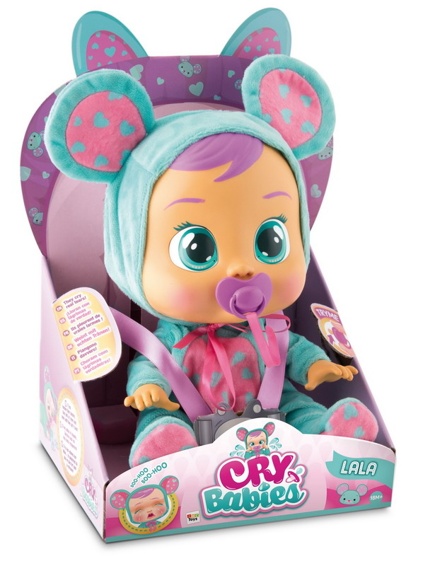 Интерактивные животные IMC toys «Cry Babies» Ляля imc toys imc toys кукла интерактивная crybabies плачущий младенец дотти