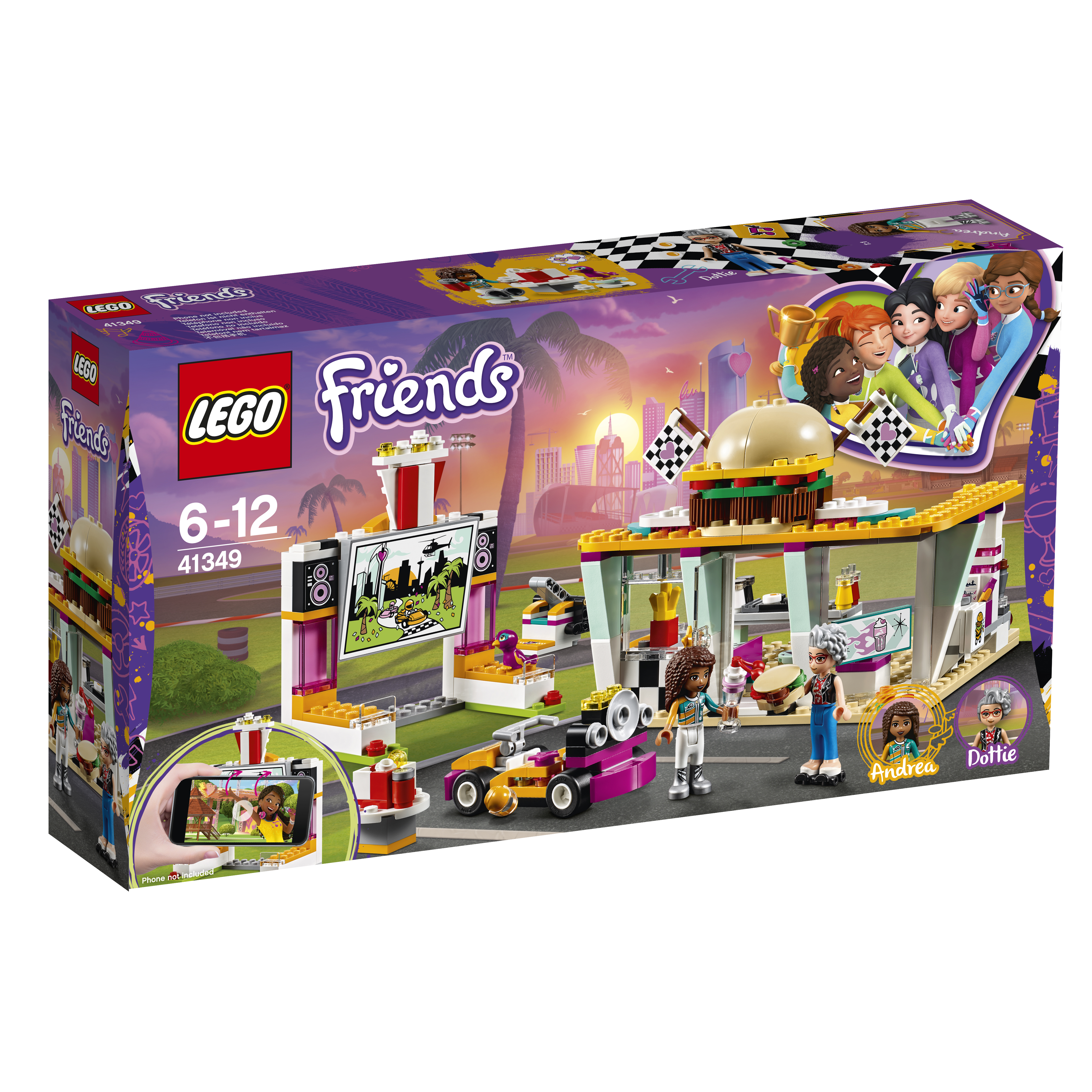 LEGO LEGO Конструктор LEGO Friends 41349 Передвижной ресторан figures houses girl friends stephanie mia olivia andrea emma andrea blocks learning toy gift compatible with with friends gift