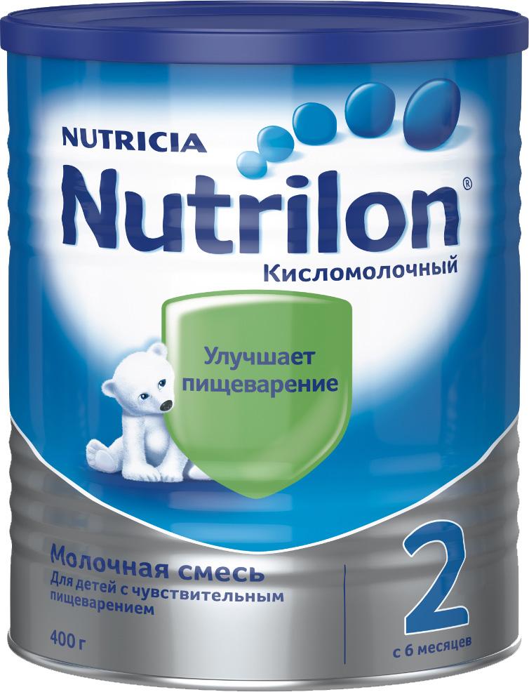 Молочные смеси Nutrilon Nutrilon (Nutricia) 2 кисломолочный (c 6 месяцев) 400 г молочные смеси nutrilon молочная смесь nutrilon гипоаллергенный 2 с 6 месяцев 800 г