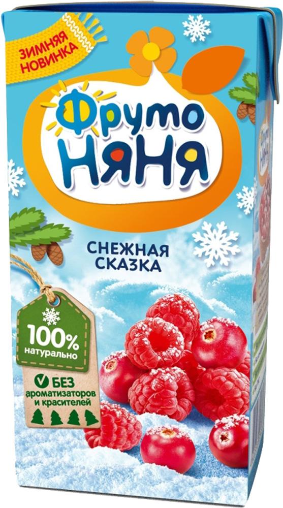 Напитки, Снежная сказка клюквенно-малиновый с 5 мес. 200 мл, Фрутоняня, Россия  - купить со скидкой