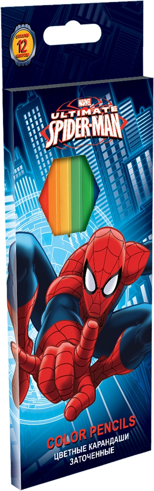 Ручки и карандаши Spider-man Spider-man 12 шт ручки и карандаши spider man набор цветных карандашей spider man 18 шт