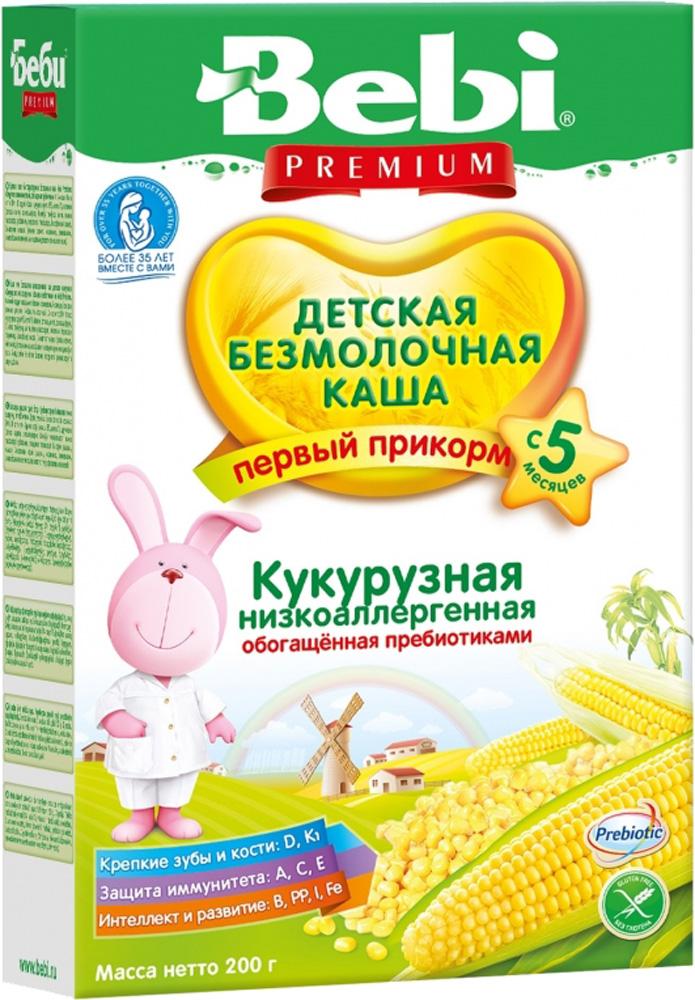 Каши Bebi Bebi Безмолочная кукурузная с пребиотиками (с 5 месяцев) 200 г бабушкино лукошко безмолочная кукурузная каша с пребиотиками с 5 мес 200 г