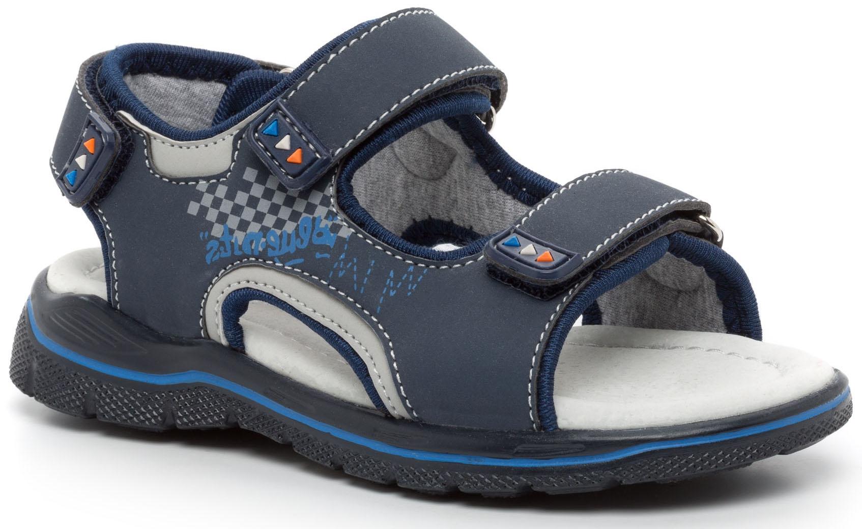 Босоножки Barkito Туфли летние для мальчика Barkito, темно-синие цена и фото