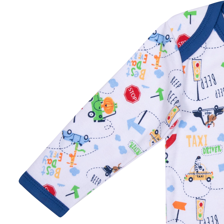 Боди с длинным и коротким рукавом детское Barkito 2 шт., цвет белый/синий