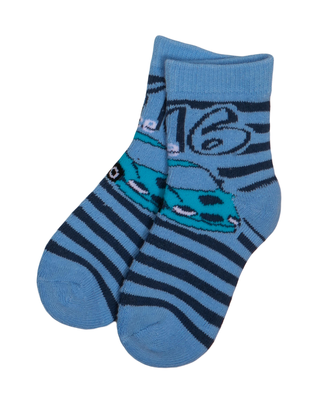 Носки Barkito Носки махровые для мальчика Barkito, голубые с рисунком в полоску носки махровые для мальчика barkito белые с рисунком